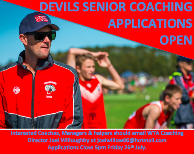 2019 Senior Coaching Applications OPEN!