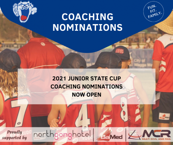 Junior State Cup Coaches Wanted!