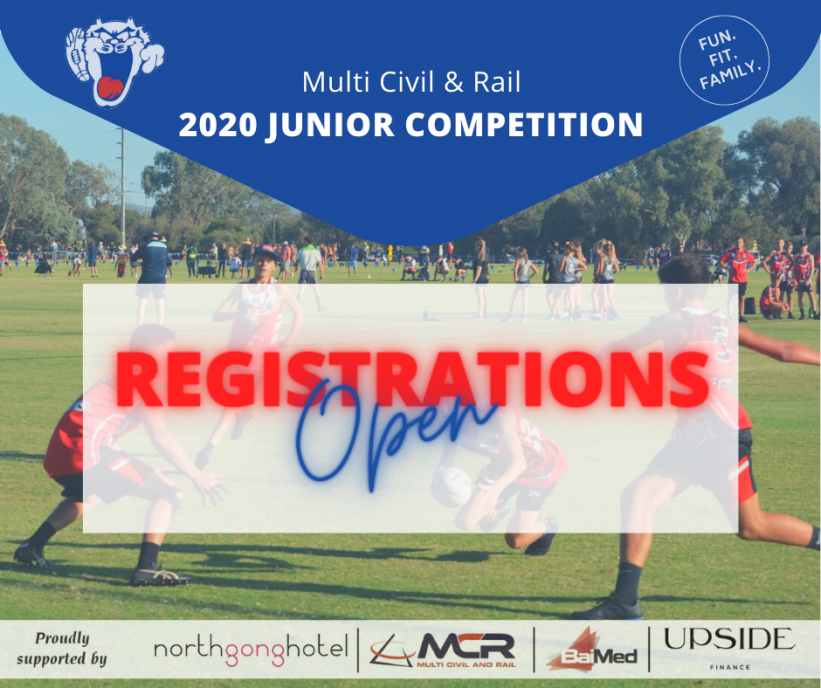 MCR 2020 JUNIOR COMPETITION REGISTRATIONS NOW OPEN